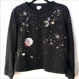 Anthropologie Outer Space Shirt Black
